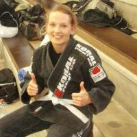 Milena Hammer of Switzerland is third in European Jiu-Jitsu