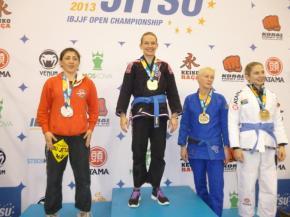 Photo Gallery of Milena Hammer Rocha winning the gold medal at the European Jiu-Jitsu in Portugal, Lisbon, 2013 –IBJJF