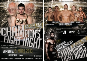 CHAMPION'S FIGHT NIGHT MMA IN MARCH, ON SWISS