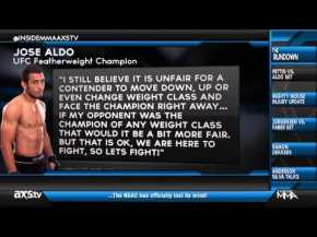 EXCLUSIVE – Why Aldo Thinks It's OK To Jump a Weight Class